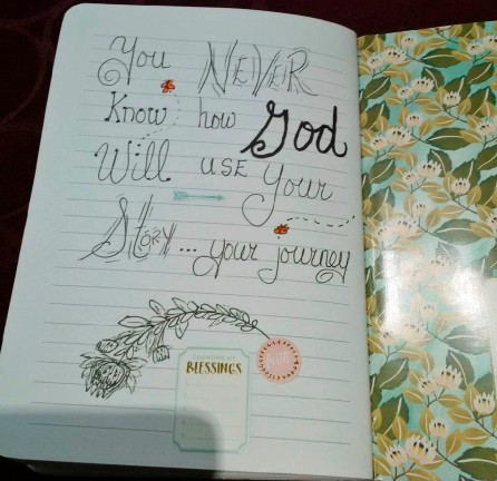 Keep notes from doctors appointments in one book and add inspirations to help keep you optimistic