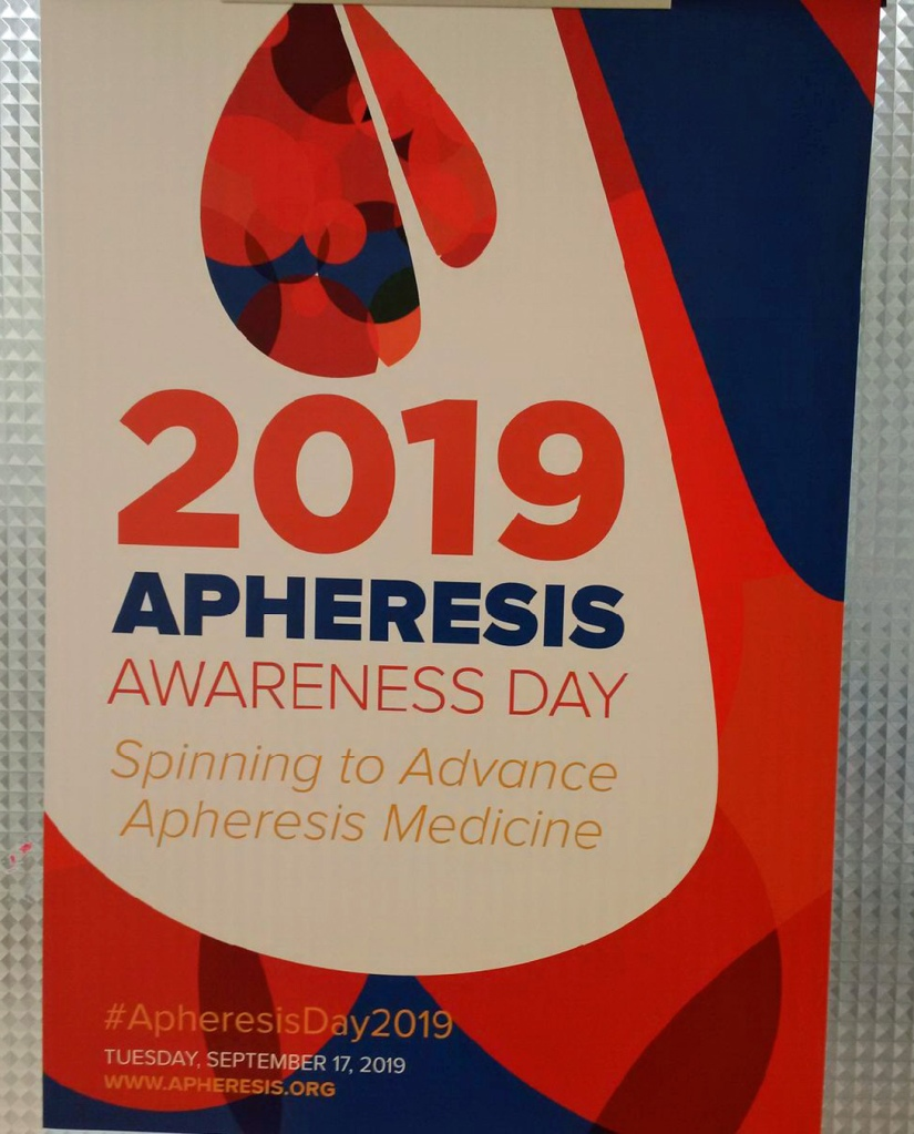 ASFA Apheresis Awareness Day poster spotted at Toronto General Hospital