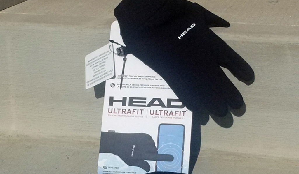 Head running gloves for use with smart phone and grips for driving protect fingers from Raynaud's episodes