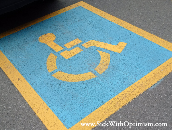 disabled or handicapped parking spot image