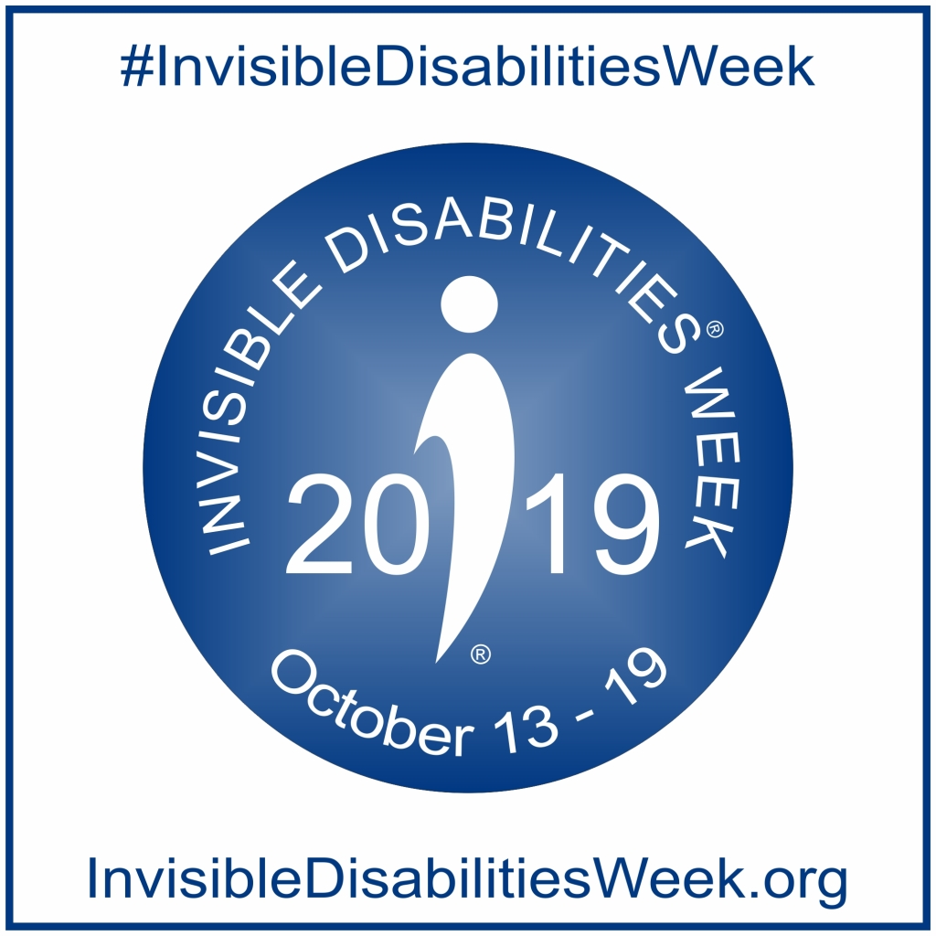 Logo for Invisible Disabilities Week 2019 from the Invisible Disabilities Association website invisibledisabilitiesweek.org